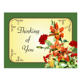 CUSTOMIZABLE floral flowers postcards