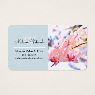 Customizable floral mommy calling card