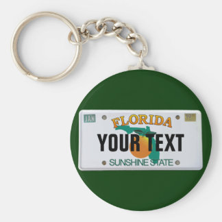 (Customizable) Florida License Plate Keychain