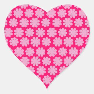 Customizable Flower Power Heart Sticker