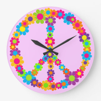 Customizable Flower Power Large Clock