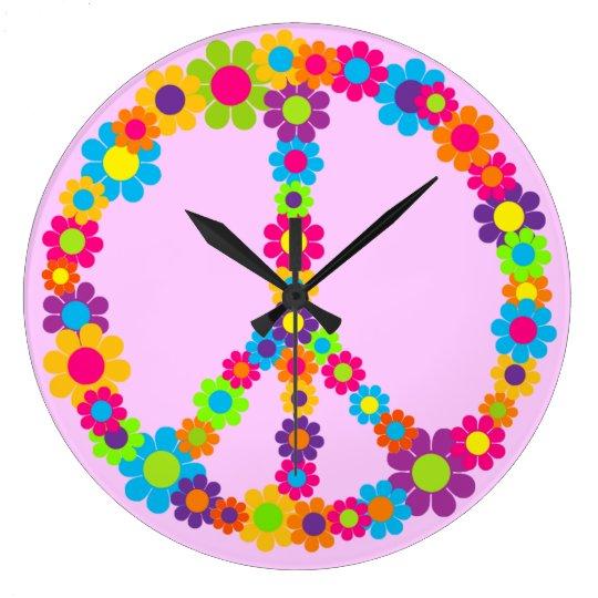 Customizable Flower Power Large Clock