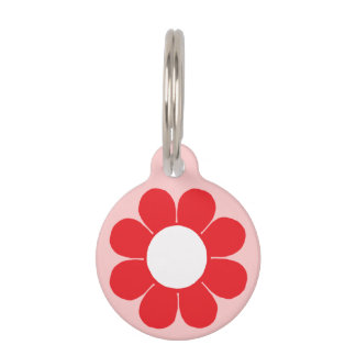 Customizable Flower Power Pet Name Tag