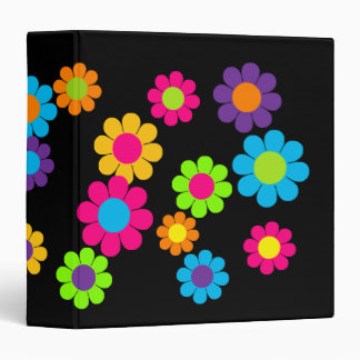 Customizable Flower Power Vinyl Binders