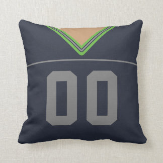Customizable Football Jersey Number Jersey Throw Pillow