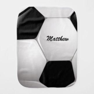 Customizable Football Soccer Ball Burp Cloths