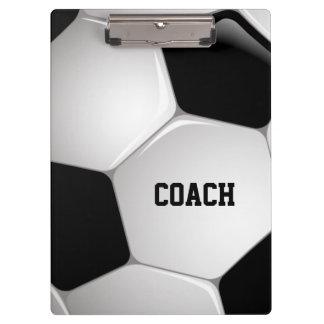 Customizable Football Soccer Ball Coach Clipboard
