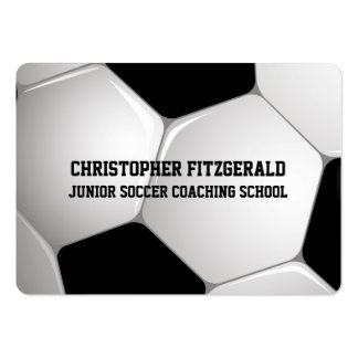 Customizable Football Soccer Ball Coaching Business Card