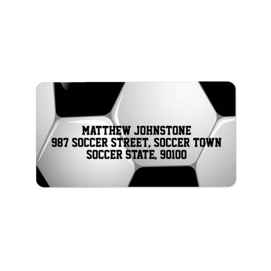 Customizable Football Soccer Ball Label