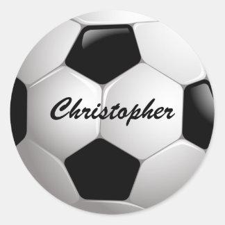 Customizable Football Soccer Ball Round Sticker