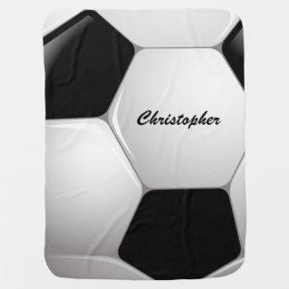 Customizable Football Soccer Ball Stroller Blanket