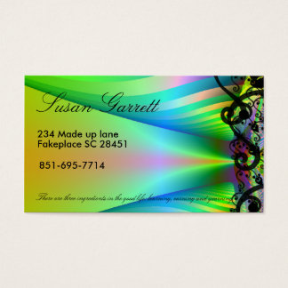 customizable fractal business card