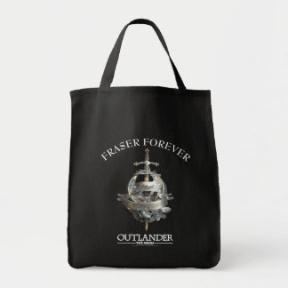 Customizable Fraser Brooch Grocery Tote Bag