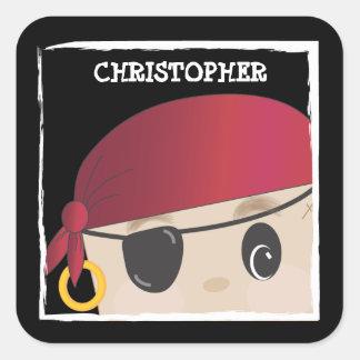 Customizable Friendly Pirate Sticker
