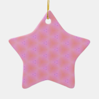 Customizable Funky Girly Pink  Background Pattern Ceramic Star Ornament