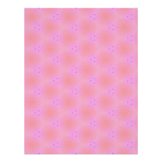 Customizable Funky Girly Pink  Background Pattern Letterhead Template