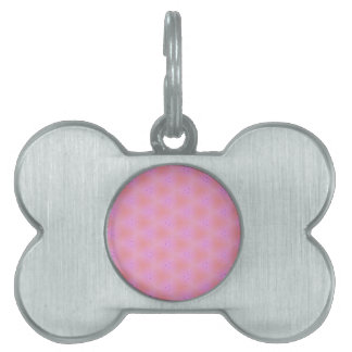 Customizable Funky Girly Pink  Background Pattern Pet Name Tags