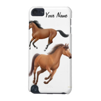 Customizable Galloping Bay Thoroughbred Horses Spe iPod Touch (5th Generation) Case