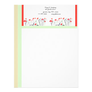 Customizable Garden Letterhead Template 1