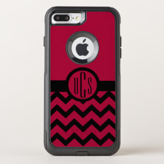 Customizable Garnet and Black Monogram OtterBox Commuter iPhone 8 Plus/7 Plus Case