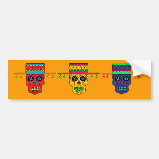 Customizable Gaucho Sugar Skull Bumper Sticker