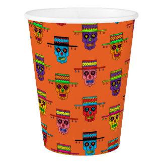 Customizable Gaucho Sugar Skulls Paper Cup