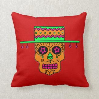 Customizable Gaucho Sugar Skulls Throw Pillow