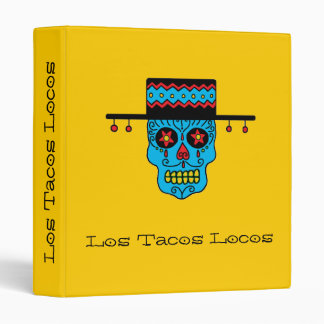 Customizable Gaucho Sugar Skulls Vinyl Binder