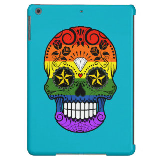 Customizable Gay Pride Rainbow Sugar Skull Case For iPad Air