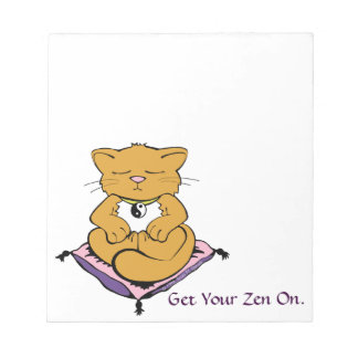 CUSTOMIZABLE Get Your Zen On Cute Kitty Cat Notepad