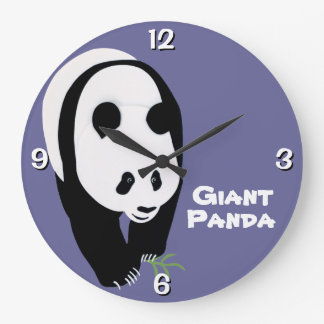 Customizable Giant Panda Bear Large Clock