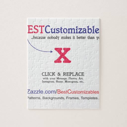 Customizable Gift Template Jigsaw Puzzle