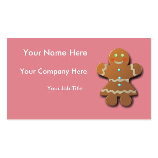 Customizable Gingerbread Cookie Business Card