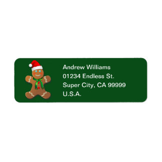 Customizable Gingerbread Cookie Return Address Label