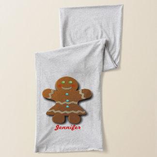 Customizable Gingerbread Cookies Scarf