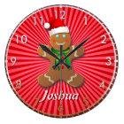 Customizable Gingerbread Man Large Clock