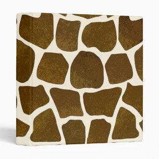 Customizable Giraffe Print 3-Ring Binder