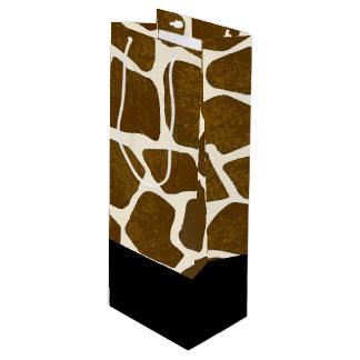 Customizable Giraffe Print Gift Bag