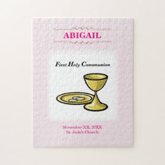Customizable, Girl Communion Body and Blood Jigsaw Puzzle