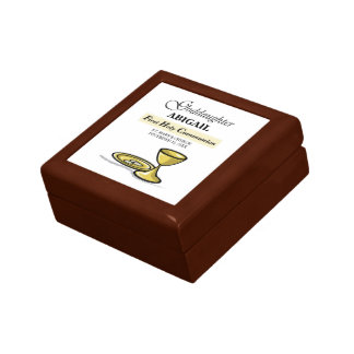Customizable, Goddaughter First Communion Chalice Gift Box