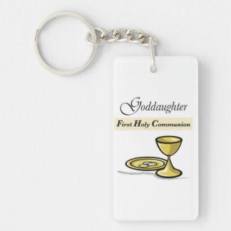 Customizable, Goddaughter First Communion Chalice Keychain