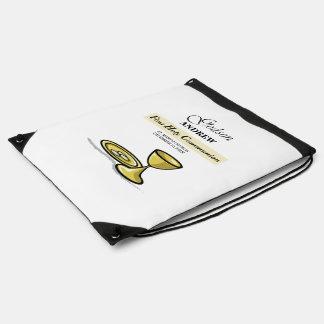 Customizable, Godson First Communion Chalice Drawstring Bag