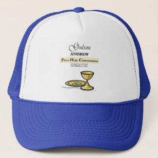 Customizable, Godson First Communion Chalice Trucker Hat