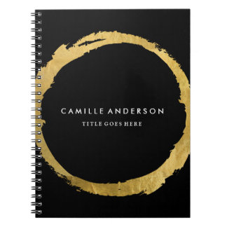 Customizable Gold and Black Note Book