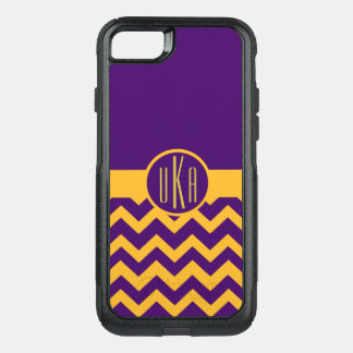 Customizable Gold and Purple Monogram OtterBox Commuter iPhone 8/7 Case
