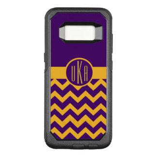 Customizable Gold and Purple Monogram OtterBox Commuter Samsung Galaxy S8 Case