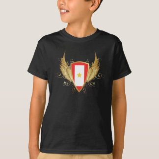 Customizable Gold Flyer 1 Yellow Star T-Shirt