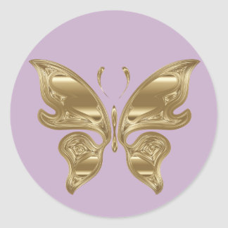 Customizable Gold Spring Cute Butterfly Sticker