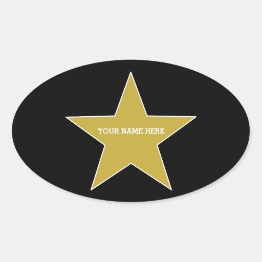 Customizable Gold Star Sticker