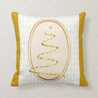 Customizable Gold Tree Christmas Pillow
